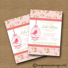 Shabby Chic Baby Shower Invitation Get other images and videos about shabby chic at coastersfurniture.org