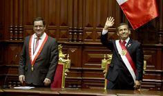 Antes de su último mensaje presidencial, Humala fue recibido por Luis Iberico, el opositor que ahora preside el Congreso
