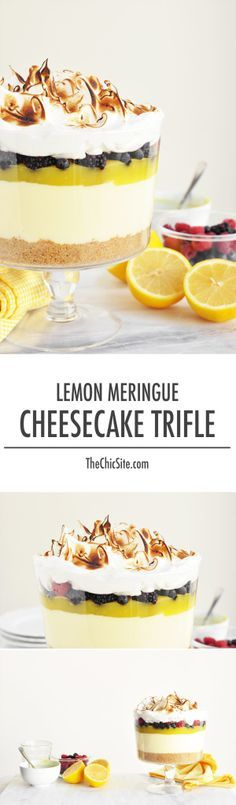 LEMON MERINGUE CHEESECAKE TRIFLE