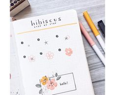 Bullet Journal Notes, Bullet Journal Ideas Pages, Bullet Journal Inspiration, Doodle Drawings, Easy Drawings, Flower Drawing Tutorials, Drawing Flowers, Painting Flowers, Drawing Ideas