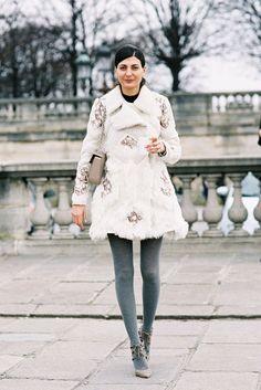 Contributing Fashion Editor W magazine, Giovanna Battaglia, Tuileries, Paris, March 2013.