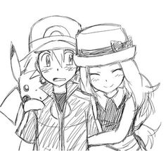 Beautiful ♡ Amourshipping ^.^ ♡ I give good credit to whoever made this I found this in sakunyu.tumblr.com