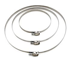 """3Q Stainless Steel Quick Release Clamp For Hydroponic 8"""" Duct Fan Duct Clamps"""