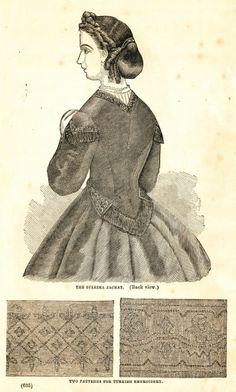 what-i-found: Civil War Fashions - Engravings from 1864 Ladies Friend Magazine - Back Views