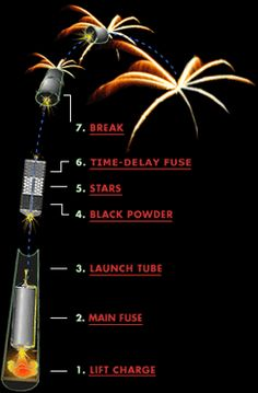 Anatomy of a firework diagram