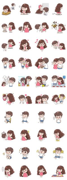 Boobib lovely couple 5 (Indo) - Stiker LINE Love Cartoon Couple, Cute Love Cartoons, Anime Love Couple, Cute Love Pictures, Cute Love Gif, Chibi Kawaii, Cute Chibi, Cute Couple Drawings, Cute Drawings