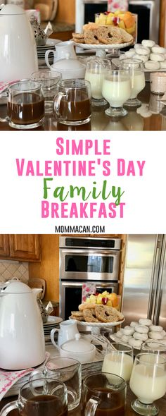 Simple Valentine's Day Family Breakfast - Your family will love this! Busy moms can make a fabulous Valentine's Day Breakfast with these simple ideas. #valentines #breakfast