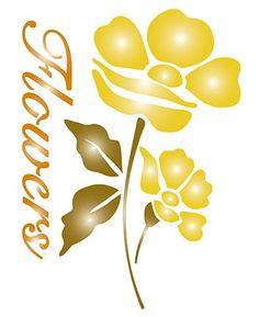 STENCIL LITOARTE STM1-010 FLOWERS