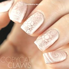 UberChic Beauty - Collection 11 Nail Stamping procedure of nail stamping Simple Wedding Nails, Wedding Nails Design, Gorgeous Nails, Pretty Nails, Nude Nails, Acrylic Nails, Ongles Beiges, Nail Art Designs, Nagel Stamping