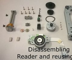 Disassembling a CD/DVD reader and reusing its parts