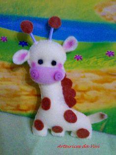 Girafinha em feltro