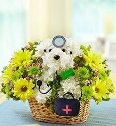 Doggie get well arrangement