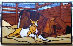 Mare and foal by Fiona Gammonley