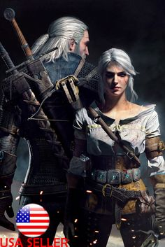 """The Witcher 3 video game 36"""" x 24"""" Large Wall Poster Print GIFT"""