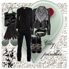 black city day, created by magdalenacro.polyvore.com