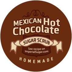 Mexican Hot Chocolate Sugar Scrub Label