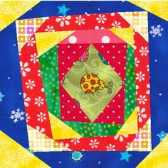 Crazy Pineapple Quilt Pattern Quilt Block Instant by LuvtoPeace