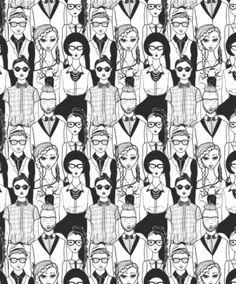 16 estampas super jovens de papel de parede adesivo - Casa