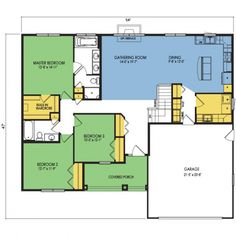 Floor Plan Preview 1 #shedplans Family House Plans, House Floor Plans, Custom Home Plans, Custom Homes, Wausau Homes, Building A Shed, Shed Plans, Square Feet, Living Spaces