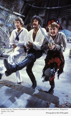 "Rex Smith, Kevin Kline, and Angela Lansbury in ""Pirates of Penzance"""