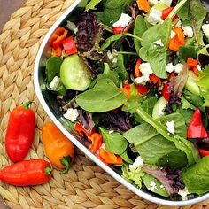 Green Salad with Sweet Peppers