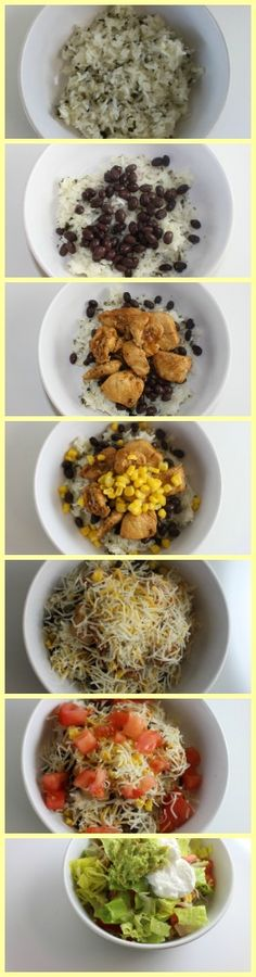 How to Make a Chipotle-Style Chicken Burrito Bowl. This copycat Chipotle recipe is so easy to make!