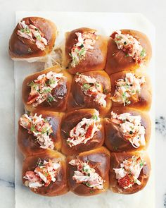 Fill pull-apart rolls with lobster (or chicken or egg salad), and you've got yourself an easy appetizer. This recipe comes from our latest book Martha Stewart's Appetizers (Clarkson Potter).