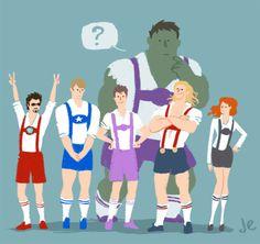 The Avengers in lederhosen