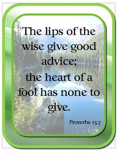 The great things to give thru wisdom.