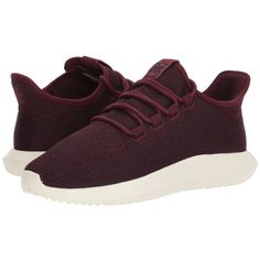 adidas Originals Tubular Shadow (Maroon/Maroon/Off-White) Women's... ($100) ❤ liked on Polyvore featuring shoes, athletic shoes, maroon running shoes, lightweight running shoes, champagne shoes, ortholite shoes and high heeled footwear