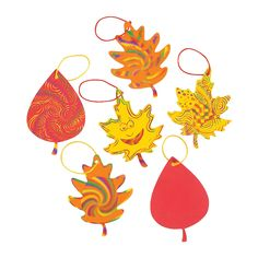 Farmoween craft: Magic Color Scratch Fall Leaves - OrientalTrading.com