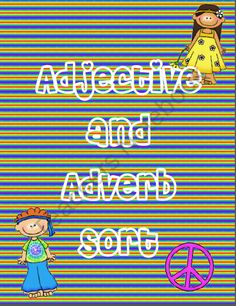Adjective and Adverb Sort product from Ms-Third-Grade on TeachersNotebook.com