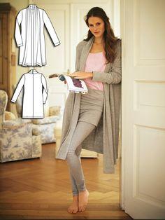 Long Knit Cardigan 01/2011 #126B http://www.burdastyle.com/pattern_store/patterns/long-knit-cardigan-012011?utm_source=burdastyle.com&utm_medium=referral&utm_campaign=bs-tta-bl-160401-LazyDayCollection126B