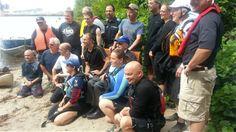 Traversée du fleuve de Steven Blaney et des autres nageurs Été 2013 Saint Laurent, Excursion, 2013, Swimmers, Yves Saint Laurent