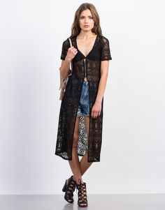 This Maxi Crochet Top goes a long way. Literally. Comes in a black or white color of your choice. Pair this as a top over a strappy bralette and frayed denim shorts or as a cardigan with a flowy tank. Add a pair of ankle booties to complete a boho look for this festival season.