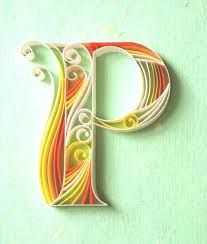 Image result for quilled alphabets