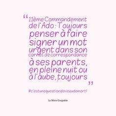 « La Mère Coupable » revient pour notre plus grand plaisir et cette fois-ci pour celui...des adolescents : Voici leurs 11 commandements !