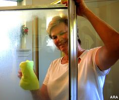 how to get soap scum off shower wall