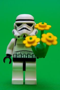 this Stormtrooper would like to give you flowers!
