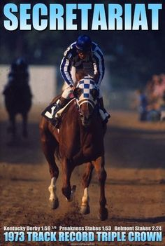 Secreteriat wins the Kentucky Derby, the Preakness, and the Belmont Stakes, becoming the first thoroughbred to win the Triple Crown since 1948. (1973)