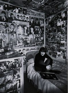 Beatles room! Unknown girl, 1965.that is.exactly what my room looked like!