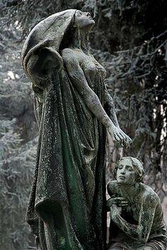 Stone monument. Turin Cemetery, Italy
