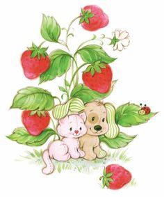 Pupcake and Custard! Strawberry shortcake friends