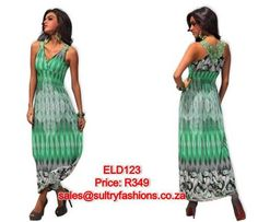 ELD123 - PRICE: R349  AVAILABLE SIZES: S/M (Size 8-10 / 32-34) To order, email: sales@sultryfashions.co.za Dresses For Sale, Fashion, Moda, La Mode, Fasion, Fashion Models, Trendy Fashion