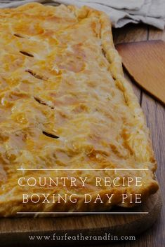 Looking for the perfect Boxing Day dish to serve up to your loved ones? Try out our Boxing Day pie recipe, a hearty meal that is sure to be a hit with everyone! Merry Christmas, Christmas Foods, Christmas Stuff, Christmas Ideas, Boxing Day Food, Christmas Recipes, Holiday Recipes, Country Recipe, Quail Recipes