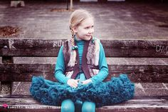 Stunning combination for colder days. DOLLY skirt Blue bird.