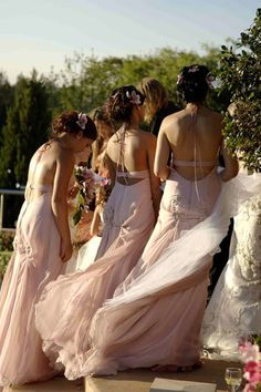 My sisters and best friend in Bora Couture on my wedding day...