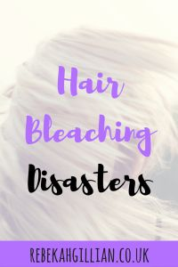 Hair Bleaching Disasters--I've had many over the years. Hear my full story below.