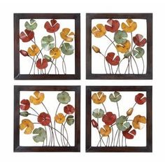 Shop for Metal Wall Decor (Pack of 4). Get free shipping at Overstock.com - Your Online Home Decor Outlet Store! Get 5% in rewards with Club O! - 21076720