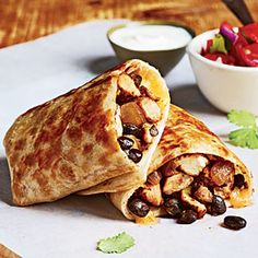 Chicken and Bean Burritos | MyRecipes.com